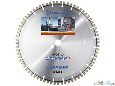 """Алмазный диск Husqvarna  S1235  350-1"""". гранит"""