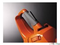 Повышенный комфорт во время работы обеспечивают мягкие вставки на рукоятках, эргономичный курок газа и асимметричная по форме рукоятка