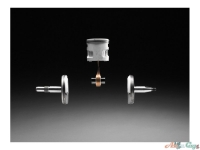 Кованый коленчатый вал из трех частей обладает исключительной прочностью и долговечностью